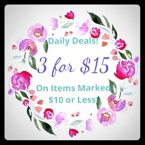 3 for $15 on Items Marked $10 or Less!